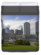 East Boston Harbor Duvet Cover