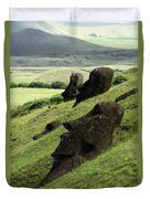 Easter Island 17 Duvet Cover