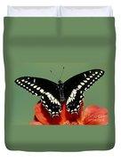 Eastern Black Swallowtail Butterfly Duvet Cover