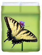 Eastern Tiger Swallowtail Butterfly Square Duvet Cover