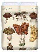 Eatable Mushrooms Duvet Cover