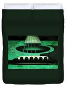 Edgy Abstract Eclectic Guitar 15 Duvet Cover by Andee Design