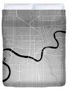 Edmonton Street Map - Edmonton Canada Road Map Art On Colored Ba Duvet Cover