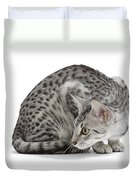 Egyptian Mau Cat Duvet Cover