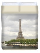 Eiffel Tower And The Seine Duvet Cover