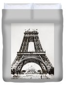 Eiffel Tower Construction Duvet Cover