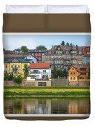 Elbe River Town Duvet Cover