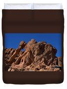 Elephant Rock Valley Of Fire State Park Nevada Duvet Cover
