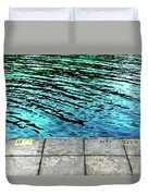 Empty Pier And River Water Duvet Cover