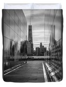 Empty Sky Memorial And The Freedom Tower Duvet Cover