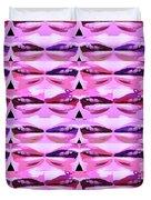 Enjoy Bliss Of Artistic Sensual Aura Lips  Kiss Romance Pattern Digital Graphic Signature   Art  Nav Duvet Cover