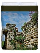Entry To Saint John's Basilica Grounds In Selcuk-turkey Duvet Cover