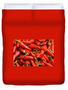 Espelette Peppers Duvet Cover
