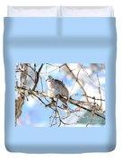 Eurasian Collard Dove Duvet Cover