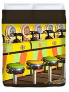 Evergreen State Fair Midway Game With Coloful Stools And Squirt  Duvet Cover