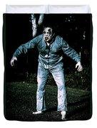 Evil Dead Horror Zombie Walking Undead In Cemetery Duvet Cover