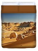 Expressive Landscape With Mountains In Egyptian Desert  Duvet Cover
