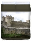 Exterior Of Cahir Castle Duvet Cover