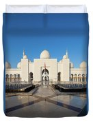 Exterior View Of Sheikh Zayed Grand Duvet Cover