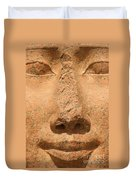Face Of Hathor Duvet Cover