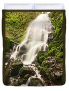 Fairy Falls In The Columbia River Gorge Area Of Oregon Duvet Cover