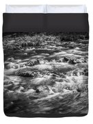 Fall Colors Stream Great Smoky Mountains Painted Bw Duvet Cover