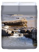 Falls Park Waterfall Duvet Cover