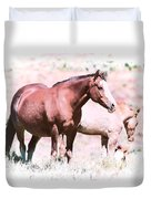 Family Of Horses Duvet Cover
