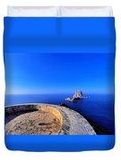 Famous Tower Of Savinar On Ibiza Island Duvet Cover
