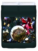 Faneuil Hall Christmas Tree Ornament Duvet Cover