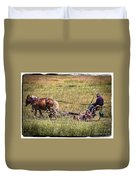 Farming With Horses Duvet Cover