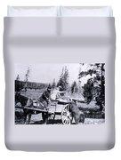 Feeding Bear Yellowstone National Park Duvet Cover