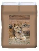 Female African Lion Duvet Cover
