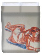 Female Figure Painting Duvet Cover
