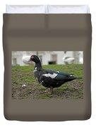 Female Muscovy Duck Duvet Cover