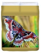 Female Promethea Moth Duvet Cover