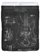 Fender Guitar Patent Drawing From 1961 Duvet Cover