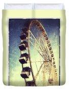 Ferris Wheel In Paris Duvet Cover