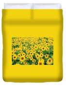 Field Of Sunflowers Helianthus Sp Duvet Cover