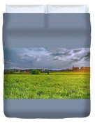 Fields Of Rapeseed In Lower Silesia Duvet Cover
