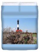 Fire Island Lighthouse Duvet Cover