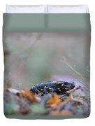 Fire Salamander - Salamandra Salamandra Duvet Cover