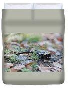 Fire Salamander Fog Droplets Duvet Cover