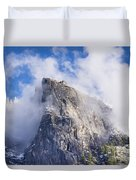 First Snow Of The Season In Yosemite Duvet Cover