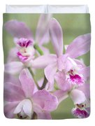 Five Beautiful Pink Orchids Duvet Cover
