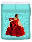 Flamenco Dancer In Spain Duvet Cover