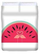 Flamingo Watermelon Duvet Cover