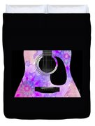 Floral Abstract Guitar 17 Duvet Cover