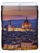 Florence Duomo Duvet Cover by Brian Jannsen