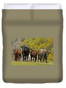 Florida Spanish Cattle Duvet Cover
